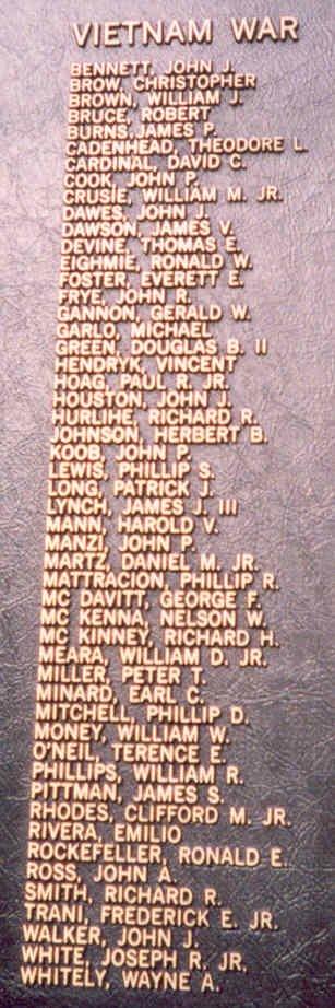 Dutchess County (NY) War Memorial, 1986