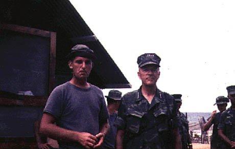 Capt. Adams & Commandant Chapman