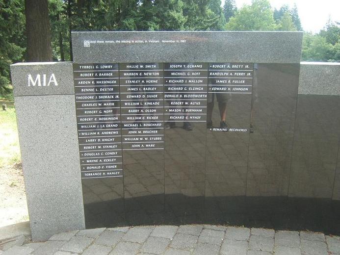 MIA Wall at the Vietnam Veterans Memorial in Portland, OR