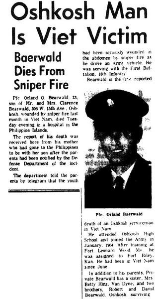 Final Mission of PFC Orland O. Bearwald