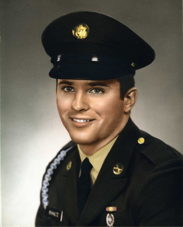 PFC Edward A. Schultz' military portrait