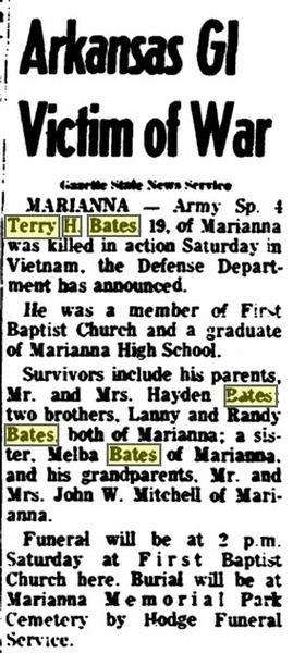 Arkansas  GI Victim of War